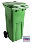 Контейнер для мусора 120л. пластик, на обрезин. колесах (ДхШхВ-480х550х997мм)
