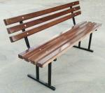 Скамейка парковая со спинкой Д-3, ДхШхВ:1500х500х760мм