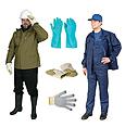 Спецодежда, перчатки, рукавицы, жилеты сигнальные