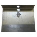 Лопата для снега алюминиевая (дюраль) 1,5 мм НА БОЛТАХ, 1-бортная 50х30 см, с накладкой 12см без черенка